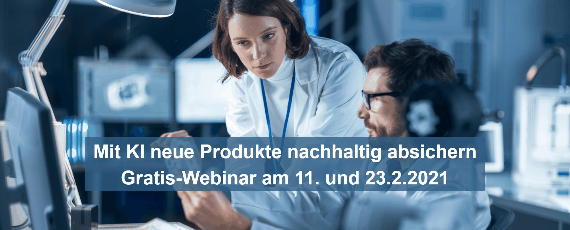 Mit KI neue Produkte nachhaltig absichern – Gratis-Webinar am 11. und 23.2.2021