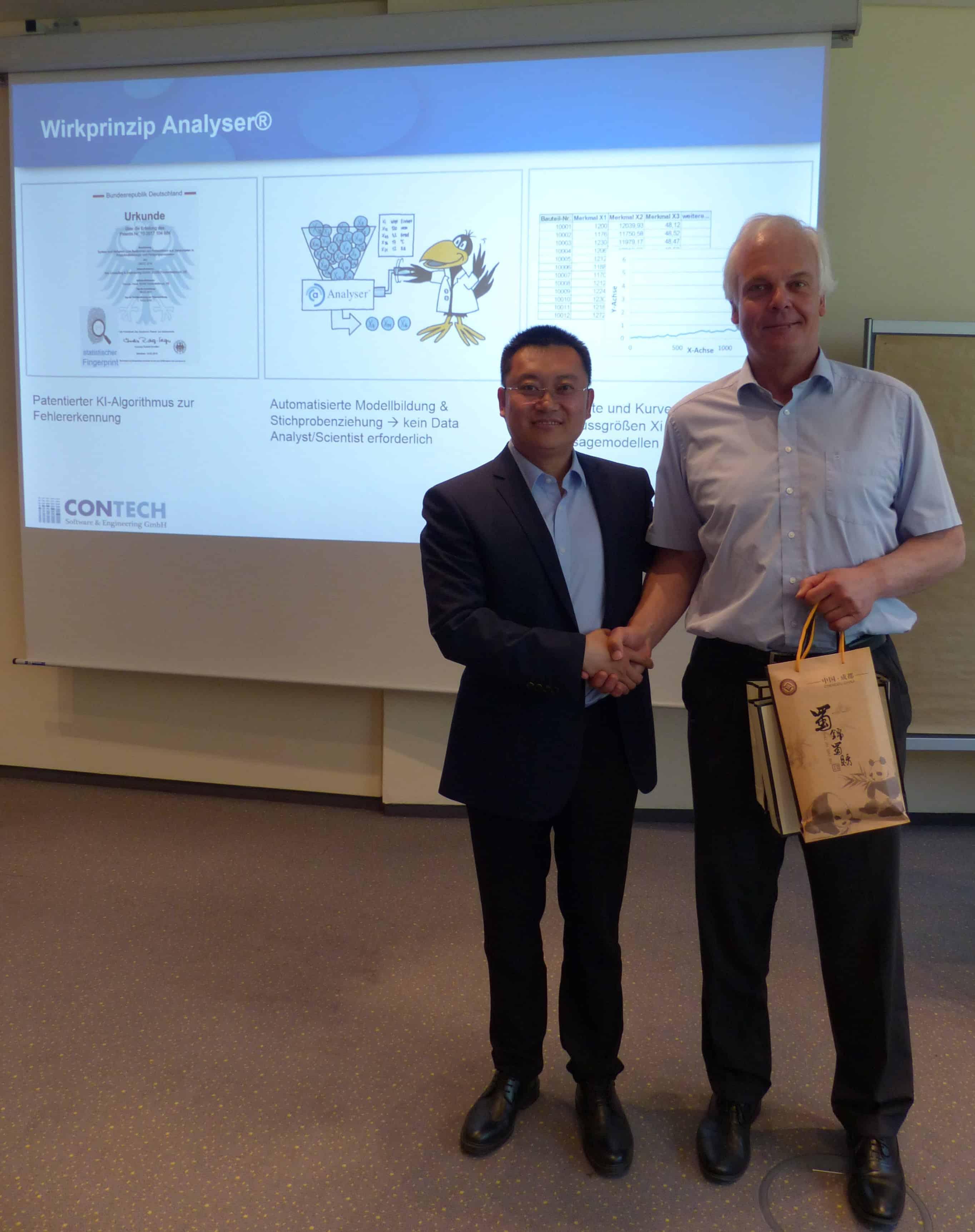 Delegation aus China besucht Contech - KI Analyser für robuste Produke & stabile Prozesse