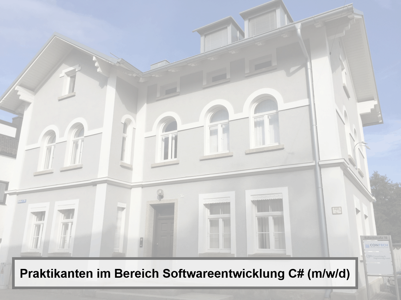 Praktikanten im Bereich Softwareentwicklung C# (m/w/d) für KI-System Analyser®