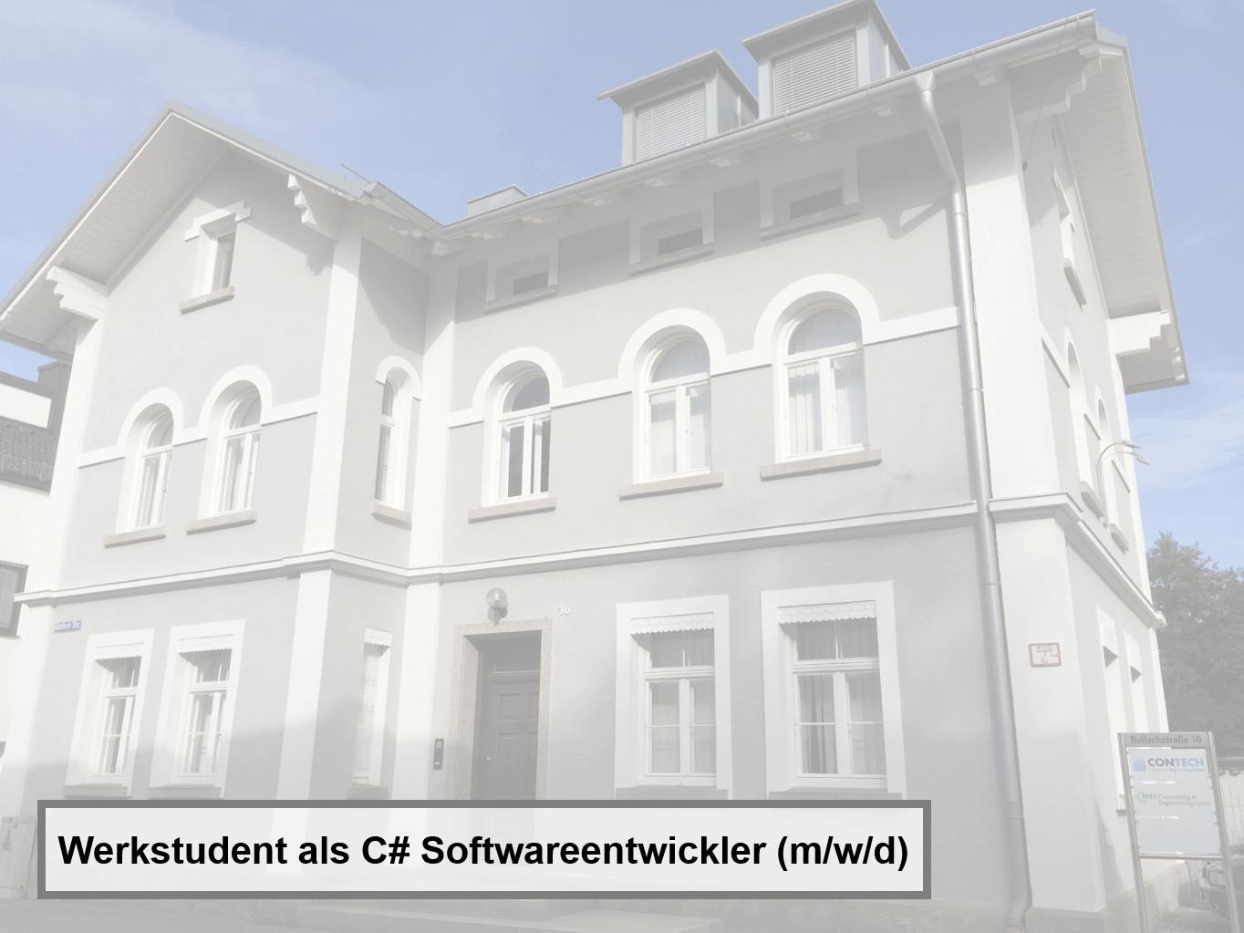 Werkstudent als C# Softwareentwickler (m/w/d) für KI-System Analyser®