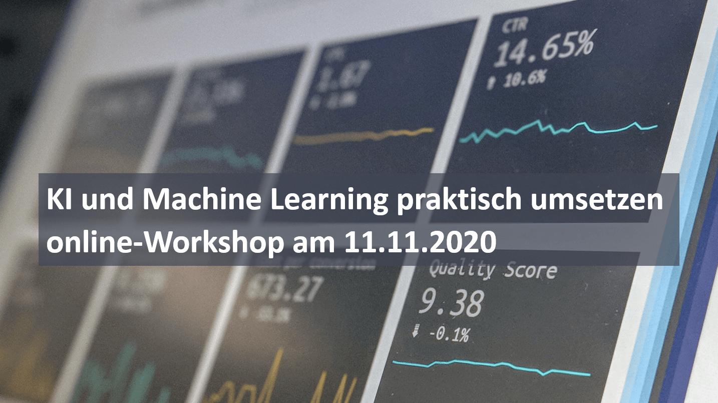 KI und Machine Learning praktisch umsetzen – online-Workshop